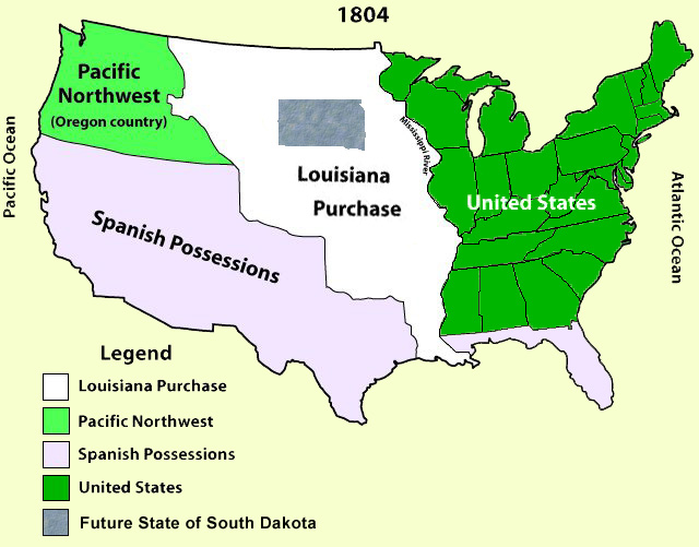 Map Of Us 1804 United States Map